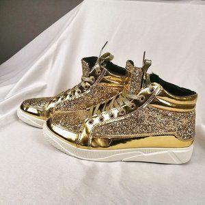 Gold glitter sneakers Unisex